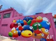120多名画家来到陆丰洲渚村画墙画
