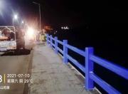 陆丰南安大桥换上彩虹色