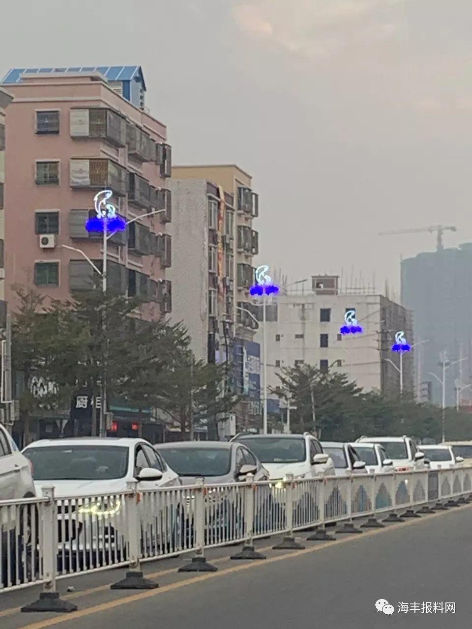 海丰县城二环路的路灯换新了 海丰新闻 第1张