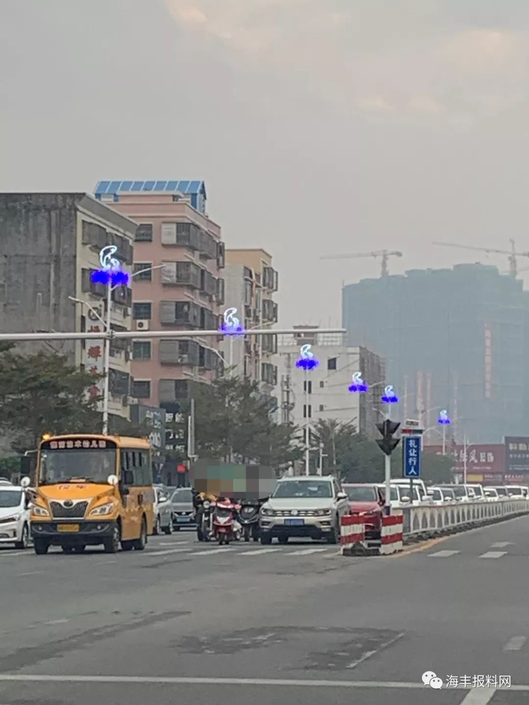 海丰县城二环路的路灯换新了 海丰新闻 第2张