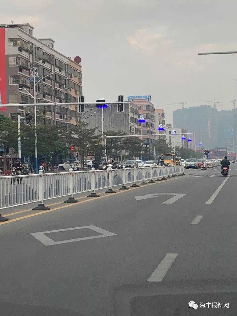 海丰县城二环路的路灯换新了 海丰新闻 第3张