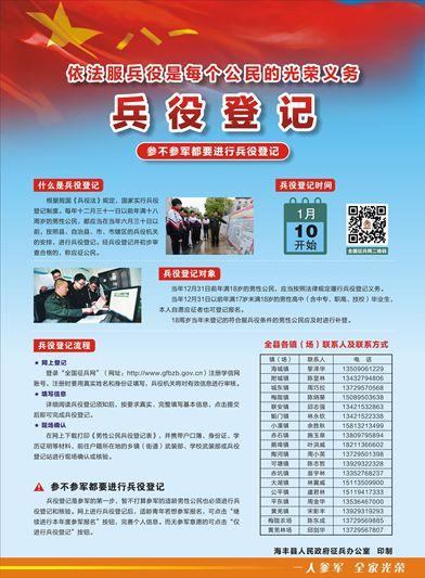 海丰县2020年兵役登记通告 海丰新闻 第2张