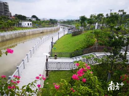 陆河螺河东岸亲水带状公园开放 陆河 第1张