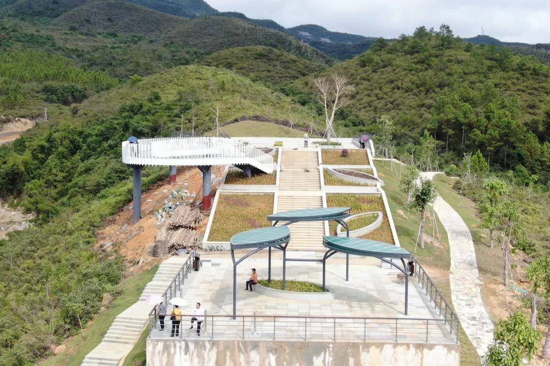 海丰莲花山观景台已基本完工 可供270°观景 海丰新闻 第1张