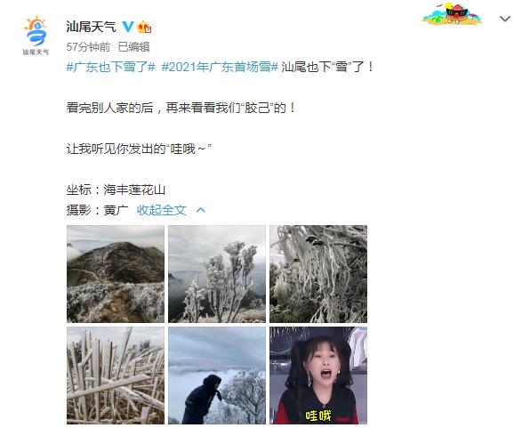 """汕尾也""""下雪""""了 海丰莲花山出现绝美雾凇 海丰新闻 第1张"""